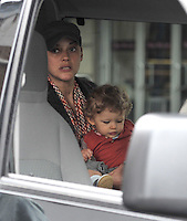 May 04, 2012: Marion Cotillard with son Marcel Canet on the set of Blood Ties in New York City. Credit: mpi15/MediaPunch Inc.