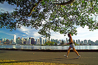 Vancouver, BC, Canada, August 2006. Stanley Park is the place to jog, cycle, rollerblade in the park or just laze on the beach. Squeezed in between the Rocky Mountains and the Pacific Ocean, Vancouver has a special feel. Photo by Frits Meyst/Adventure4ever.com
