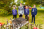 Members of the 1st Kerry Tralee Scouts at Feile na mBlath in the Tralee town park on Saturday. L to r: Luke O'Brien, Éanna Murray, Kai Seino and Jack O'Sullivan.