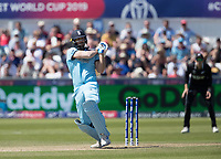 Liam Plunkett (England) pulls into the on side during England vs New Zealand, ICC World Cup Cricket at The Riverside Ground on 3rd July 2019