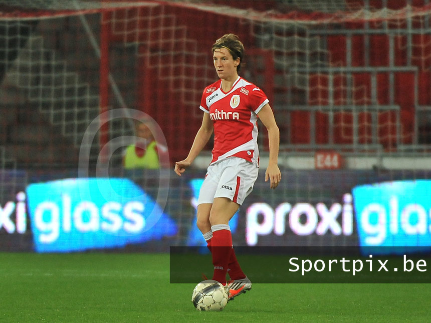 20131009 - LIEGE , BELGIUM : Standard's Aline Zeler pictured during the female soccer match between STANDARD Femina de Liege and  GLASGOW City LFC , in the 1/16 final ( round of 32 ) first leg in the UEFA Women's Champions League 2013 in stade maurice dufrasne - Sclessin in Liege. Wednesday 9 October 2013. PHOTO DAVID CATRY