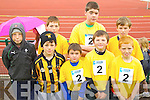 Pictured at the Kerry Community Games finals at Castleisland on Saturday were the Abbeydorney/Kilflynn: Mikey Clifford, Oisin Maunsell, Michael Slattery, Cian Sheehan, Patrick Mahony, Jack Sheehan, Alan Slattery and Dylan Peevers.