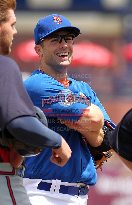 New York Mets third baseman David Wright #5 during a spring training game against the Atlanta Braves at the Digital Domain Park on March 27, 2012 in Port St. Lucie, Florida.  Atlanta defeated New York 7-5.  (Mike Janes/Four Seam Images)