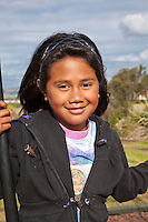 Ohinemutu Village, Rotorua, New Zealand.  Young Maori Girl.