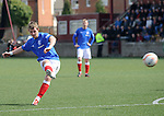 David Templeton sciores his first and Rangers second goal with a free-kick