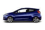 Car Driver side profile view of a 2014 Ford FIESTA ST MT 2WD 3 Door Hatchback 2WD Side View