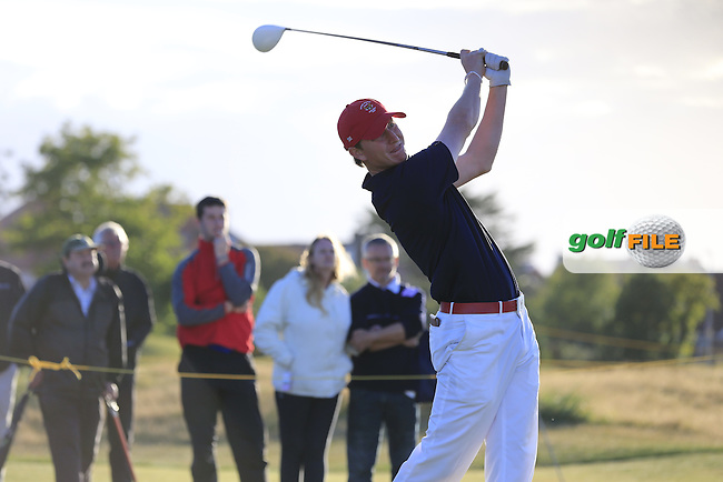 Jordan Niebrugge (USA) during the Saturday afternoon singles matches on for the Walker Cup, Royal Lytham St Annes, Lytham St Annes, Lancashire, England. 12/09/2015<br /> Picture Golffile | Fran Caffrey