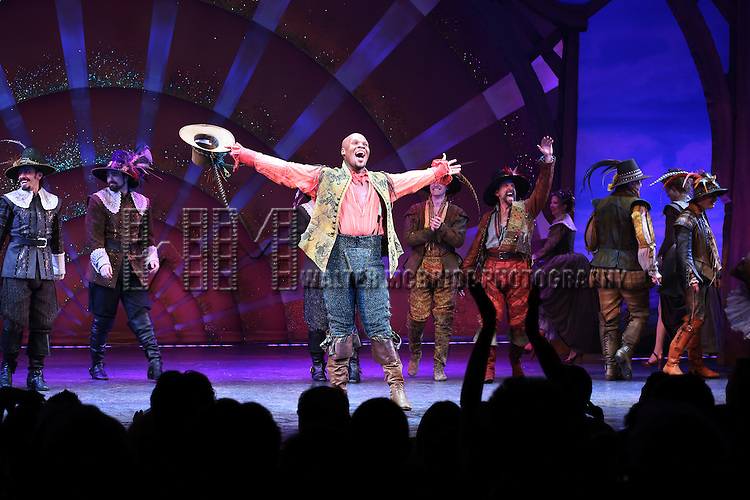 Michael James Scott during the Broadway Opening Night Curtain Call for 'Something Rotten' at the St. James Theatre on April 22, 2015 in New York City.