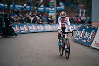 rqace winner European U23 CX Champion Ceylin del Carmen Alvarado (NED/Corendon-Circus) crossing the finish line<br /> <br /> Brussels Universities Cyclocross (BEL) 2019<br /> Women's Race<br /> DVV Trofee<br /> &copy;kramon