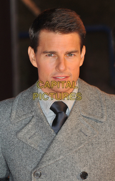 "Tom Cruise.""Mission: Impossible - Ghost Protocol"" premiere, Moscow, Russia..December 8th, 2011.4 MI4 headshot portrait jacket coat grey gray .CAP/PER/GU.©GU/PersonaStars/Capital Pictures."