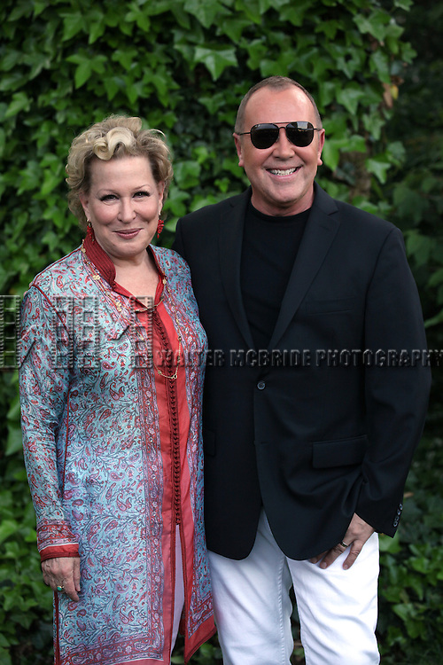 Bette Midler, Michael Kors attend the 12th Annual Spring Picnic Celebrating the Bette Midler New York Restoration Project's 18th Anniversary at Gracie Mansion in New York City on May 30th, 2013