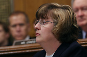 WASHINGTON, DC - SEPTEMBER 27:  Rachel Mitchell, the chief of the Special Victims Division of the Maricopa County attorneyÕs office in Arizona, questions Christine Blasey Ford on behalf of Republican members of the Senate Judiciary Committee in the Dirksen Senate Office Building on Capitol Hill September 27, 2018 in Washington, DC. A professor at Palo Alto University and a research psychologist at the Stanford University School of Medicine, Ford has accused Supreme Court nominee Judge Brett Kavanaugh of sexually assaulting her during a party in 1982 when they were high school students in suburban Maryland.  (Photo by Win McNamee/Getty Images)