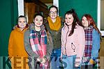 Enjoying the Cork Youth Choir concert in aid of the Children on Chernobyl in Killarney Racecourse on Sunday night l-r: Victoria Krol, Natalia Weglarz, Maria O'Donoghue, Laura Kenny and Victoria Bankosz