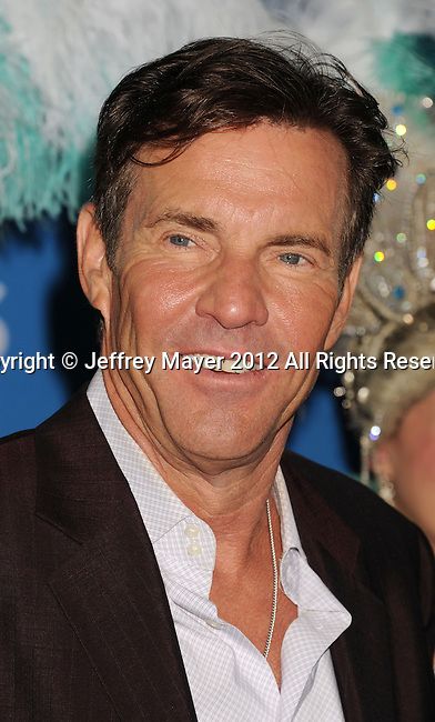 WEST HOLLYWOOD, CA - SEPTEMBER 18: Dennis Quaid  arrives at the CBS 2012 fall premiere party at Greystone Manor Supperclub on September 18, 2012 in West Hollywood, California.
