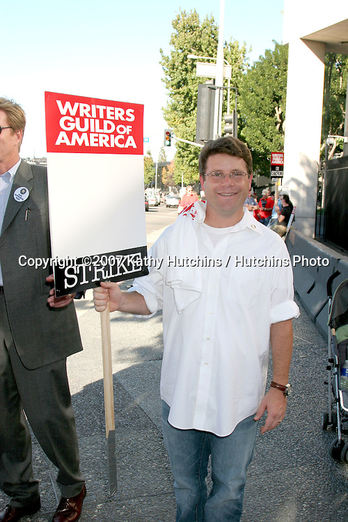 Sean Astin.Screen Actor's Guild Support the Writer's Guild of America Strike.Outside NBC/Universal Studios Lot.Lankershim Blvd.Los Angeles, CA.November 13, 2007.©2007 Kathy Hutchins / Hutchins Photo...               .