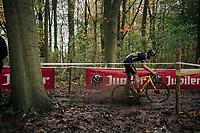 mudsplash by Toon Aerts (BEL/Telenet Fidea Lions)<br /> <br /> Men's race<br /> Superprestige Asper-Gavere 2018 (BEL)