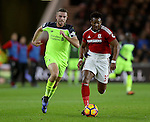Jordan Henderson of Liverpool and Adama Traore of Middlesbrough during the English Premier League match at the Riverside Stadium, Middlesbrough. Picture date: December 14th, 2016. Pic Simon Bellis/Sportimage