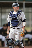 February 22, 2009:  Catcher Greg Pustizzi (8) of Georgetown University  during the Big East-Big Ten Challenge at Naimoli Complex in St. Petersburg, FL.  Photo by:  Mike Janes/Four Seam Images