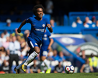 Chelsea's Willian in action     <br /> <br /> <br /> Photographer Craig Mercer/CameraSport<br /> <br /> The Premier League - Chelsea v Everton - Sunday 27th August 2017 - Stamford Bridge - London<br /> <br /> World Copyright &copy; 2017 CameraSport. All rights reserved. 43 Linden Ave. Countesthorpe. Leicester. England. LE8 5PG - Tel: +44 (0) 116 277 4147 - admin@camerasport.com - www.camerasport.com