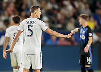 CARSON, CA - SEPTEMBER 21: Daniel Steres #5 of the Los Angeles Galaxy during a game between Montreal Impact and Los Angeles Galaxy at Dignity Health Sports Park on September 21, 2019 in Carson, California.