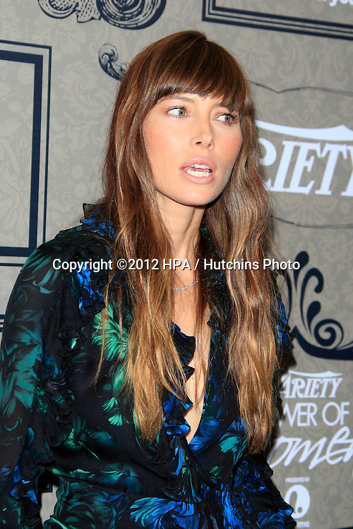 LOS ANGELES - OCT 5:  Jessica Biel arrives at the Variety's 4th Annual Power Of Women Event at Beverly Wilshire Hotel on October 5, 2012 in Beverly Hills, CA