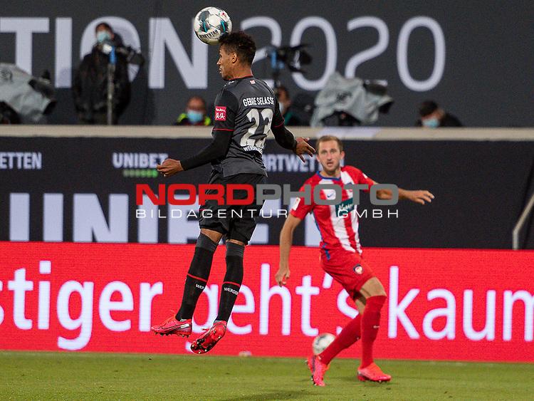 Theodor Gebre Selassie (SV Werder Bremen #23),<br /> <br /> GER, FC Heidenheim vs. Werder Bremen, Fussball, Bundesliga Religation, 2019/2020, 06.07.2020,<br /> <br /> DFB/DFL regulations prohibit any use of photographs as image sequences and/or quasi-video., <br /> <br /> <br /> Foto: EIBNER/Sascha Walther/Pool/gumzmedia/nordphoto