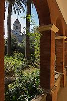 Europe/France/Provence-Alpes-Côte d'Azur/Alpes-Maritimes/Cannes: îIes de Lérins, île de Saint-Honorat : Abbaye de Saint Honorat  // Europe/France/Provence-Alpes-Côte d'Azur/Alpes-Maritimes/Cannes:  Lerins island of Saint Honorat: Church and monastery of the Lérins Abbey.