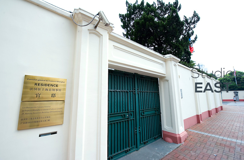 French Consul's house stands at Huaihai lu 1341, in the former French Concession, Shanghai, China, on August 28, 2010. Photo by Lucas Schifres/Pictobank