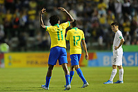 29th October 2019; Bezerrao Stadium, Brasilia, Distrito Federal, Brazil; FIFA U-17 World Cup Brazil 2019, Brazil versus New Zealand; Talles Magno of Brazil celebrates his goal in the 80th minute, 2-0