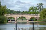 Stamford, Lincolnshire, United Kingdom, 7th September 2019, The Lion Bridge ahead of the Cross Country Phase on Day 3 of the 2019 Land Rover Burghley Horse Trials, Credit: Jonathan Clarke/JPC Images