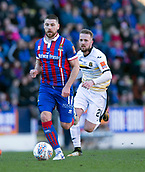 24th March 2018, McDiarmid Park, Perth, Scotland; Scottish Football Challenge Cup Final, Dumbarton versus Inverness Caledonian Thistle; Iain Vigurs of Inverness Caledonian Thistle goes past Danny Handling of Dumbarton
