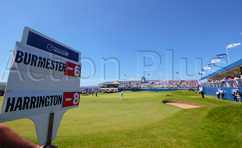 July 8th 2017, Portstewart Golf Club, Portstewart, Northern Ireland; Dubai Duty Free Irish Open Golf Championship, Day 3; Dean Burmester (RSA) looks to putt on the 18th during the third round of the Dubai Duty Free Irish Open