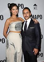 19 April 2017 - Los Angeles, California - Abril Schreiber and Humberto Busto. Univision's 'El Chapo' Original Series Premiere Event held at The Landmark Theatre. Photo Credit: AdMedia
