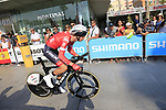 Bauke Mollema (NED) Trek-Segafredo during Stage 1 of the La Vuelta 2018, an individual time trial of 8km running around Malaga city centre, Spain. 25th August 2018.<br /> Picture: Ann Clarke | Cyclefile<br /> <br /> <br /> All photos usage must carry mandatory copyright credit (© Cyclefile | Ann Clarke)