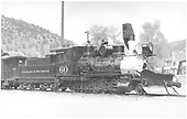 3/4 engineer's-side view of C&amp;S #60 on display at Idaho Springs.<br /> C&amp;S  Idaho Springs, CO  Taken by Kindig, Richard H. - 5/18/1941