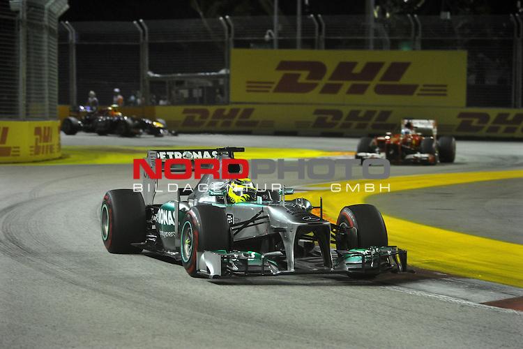 19.-22.09.2013, Marina-Bay-Street-Circuit, Singapur, SIN, F1, Grosser Preis von Singapur, Singapur, DHL Branding - Nico Rosberg (GER), Mercedes GP <br />  Foto &copy; nph / Mathis