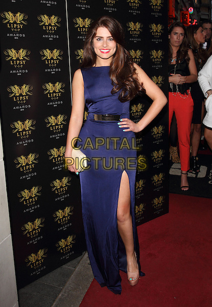 Rachel Shenton<br /> Lipsy VIP Fashion Awards at DSTRKT, London, England.<br /> May 29th 2013<br /> full length purple dress hand on hip slit split <br /> CAP/ROS<br /> &copy;Steve Ross/Capital Pictures