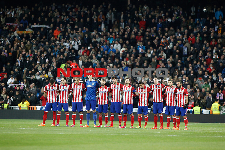 Atletico de Madrid¬¥s players during King¬¥s Cup (Copa del Rey) semifinal match in Santiago Bernabeu stadium in Madrid, Spain. February 05, 2014. Foto © nph / Victor Blanco)