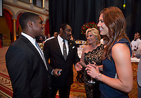 Horace Burrell, Hope Solo. US Soccer held their Centennial Gala at the National Building Museum in Washington DC.