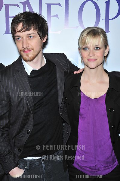 "Reese Witherspoon & James McAvoy at the Los Angeles premiere of their new movie ""Penelope"" at the Directors Guild Theatre, West Hollywood..February 20, 2008  Los Angeles, CA.Picture: Paul Smith / Featureflash"