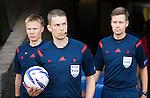 St Johnstone v FC Spartak Trnava...31.07.14  Europa League 3rd Round Qualifier<br /> Referee Mattias Gestranius<br /> Picture by Graeme Hart.<br /> Copyright Perthshire Picture Agency<br /> Tel: 01738 623350  Mobile: 07990 594431