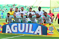 PALMASECA-COLOMBIA,09 -09-2018.Formación de la  Equidad contra el Deportivo Cali durante partido por la fecha 9 de la Liga Águila II 2018 jugado en el estadio Deportivo Cali de la ciudad de Palmira./ Team of Equidad agaisnt of Deportivo Cali during the match for the date 9 of the Aguila League II 2018 played at Alfonso Lopez  stadium in Palmaseca city. Photo: VizzorImage/ Nelson Rios / Contribuidor