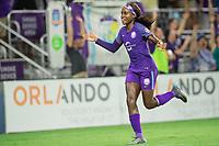Orlando, FL - Saturday September 02, 2017: Chioma Ubogagu celebrates a goal during a regular season National Women's Soccer League (NWSL) match between the Orlando Pride and the Boston Breakers at Orlando City Stadium.