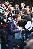 London, UK. 9 May 2016. Actor James McAvoy (Professor Charles Xavier) interacts with fans at the  X-Men: Apocalypse - Global Fan Screening at the BFI Imax cinema in London.