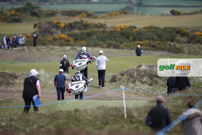 Journey to Better Graeme McDowell (NIR) and jvz/ head down the 12th during Round Three of the 2015 Dubai Duty Free Irish Open Hosted by The Rory Foundation at Royal County Down Golf Club, Newcastle County Down, Northern Ireland. 30/05/2015. Picture David Lloyd | www.golffile.ie