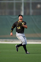 Pittsburgh Pirates Stetson Allie (59) during a minor league Spring Training intrasquad game on April 3, 2016 at Pirate City in Bradenton, Florida.  (Mike Janes/Four Seam Images)