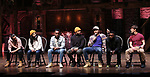 "Giuseppe Bausitio, Lauren Boyd, Deon'te Goodman, Terrance Spencer, Anthony Lee Medina, Jimmie ""JJ"" Jeter and Thayne Jasperson during the eduHAM Q & A before The Rockefeller Foundation and The Gilder Lehrman Institute of American History sponsored High School student #EduHam matinee performance of ""Hamilton"" at the Richard Rodgers Theatre on November 13, 2019 in New York City."