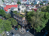 Roberto (Bobby) Craig´s rooftop garden in Colonia Roma, Mexico City, Mexico