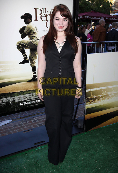 "JENNIFER STONE .""The Perfect Game"" Los Angeles Premiere held At The Pacific Theaters at the Grove, Los Angeles, California, USA..April 5th, 2010.full length black trousers waistcoat .CAP/ADM/KB.©Kevan Brooks/AdMedia/Capital Pictures."