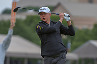 Mackenzie Hughes (CAN) watches his tee shot on 11 during Round 2 of the Valero Texas Open, AT&T Oaks Course, TPC San Antonio, San Antonio, Texas, USA. 4/20/2018.<br /> Picture: Golffile | Ken Murray<br /> <br /> <br /> All photo usage must carry mandatory copyright credit (© Golffile | Ken Murray)
